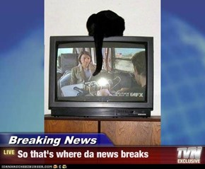Breaking News - So that's where da news breaks
