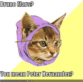 Bruno Mars?  You mean Peter Hernandez?
