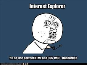 A Web developer's tantrum