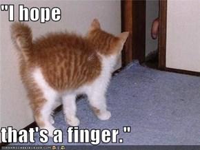 """I hope  that's a finger."""