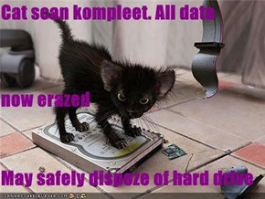 Cat scan kompleet. All data now erazed May safely dispoze of hard drive