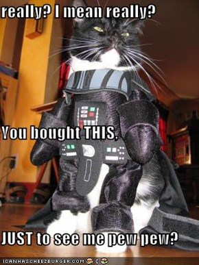 really? I mean really? You bought THIS, JUST to see me pew pew?