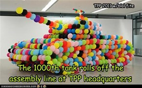 The 1000th tank rolls off the assembly line at TPP headquarters