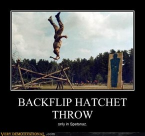 BACKFLIP HATCHET THROW