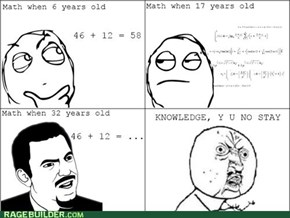 Calculator, Y U Ruin Me?