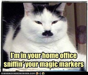 I'm in your home office sniffin' your magic markers