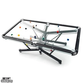 Glass Pool Table WIN