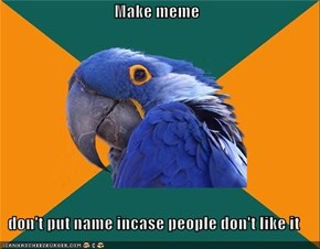 Paranoid Parrot: Open Incognito Window Just in Case