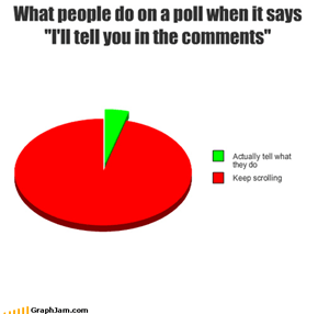 "What people do on a poll when it says ""I'll tell you in the comments"""
