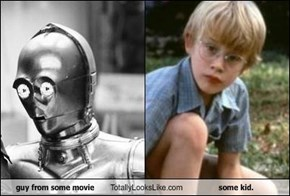 guy from some movie Totally Looks Like some kid.