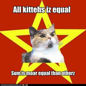 Equality according to Lenin Cat