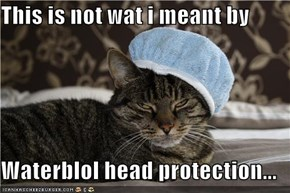 This is not wat i meant by  Waterblol head protection...