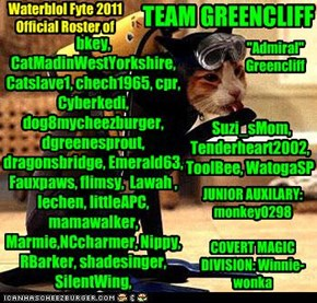 TEAM GREENCLIFF: wez nawt all wet!