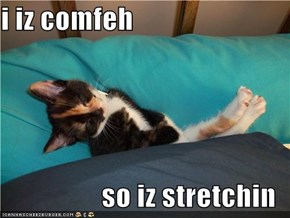 i iz comfeh  so iz stretchin
