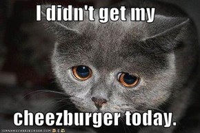 I didn't get my  cheezburger today.