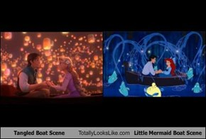 """Tangled"" Boat Scene Totally Looks Like ""Little Mermaid"" Boat Scene"