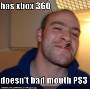 has xbox 360  doesn't bad mouth PS3