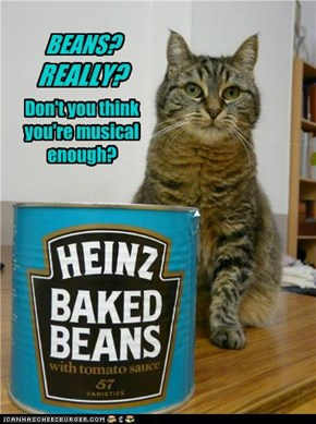 BEANS? REALLY? Don't you think you're musical enough?