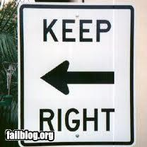 Direction fail
