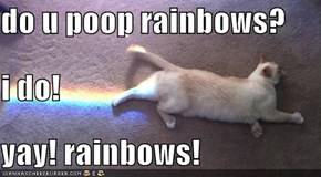 do u poop rainbows? i do! yay! rainbows!