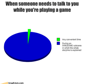 When someone needs to talk to you while you're playing a game