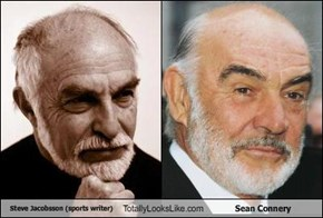 Steve Jacobson (sports writer) Totally Looks Like Sean Connery