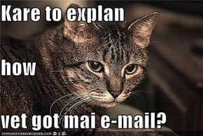 Kare to explan how vet got mai e-mail?