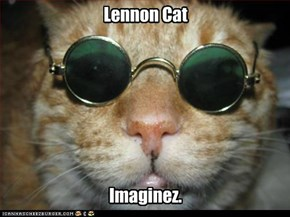 Lennon Cat        Imaginez.