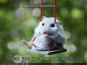 Moooommmm....  can you push me please?