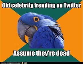 Old celebrity trending on Twitter