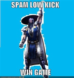 SPAM LOW KICK  WIN GAME
