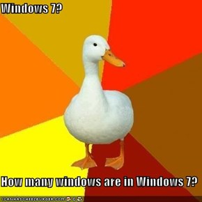 Windows 7?  How many windows are in Windows 7?