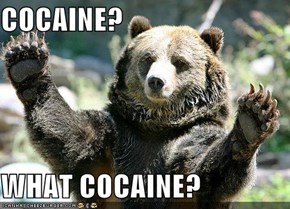 COCAINE?  WHAT COCAINE?