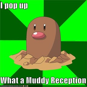 I pop up  What a Muddy Reception