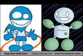 Snap from Chalk Zone Totally Looks Like Pintsize from Questionable Content