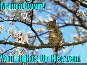 MamaGwyn!  You Lights Up Heaven!