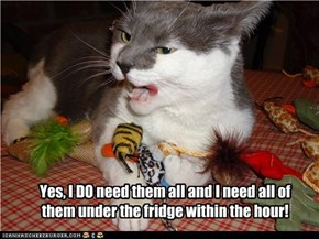 Yes, I DO need them all and I need all of them under the fridge within the hour!