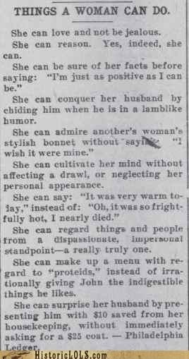 Things A Woman Can Do (1903 Edition)
