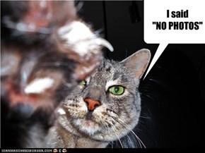 """I said  """"NO PHOTOS"""""""