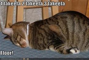 1 takeela 2 takeela 3 takeela  Floor!