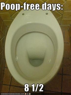 Poop-free days:  8 1/2