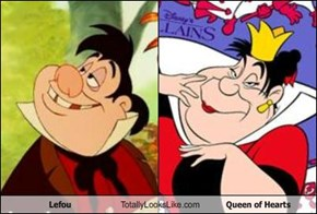 Lefou Totally Looks Like Queen of Hearts