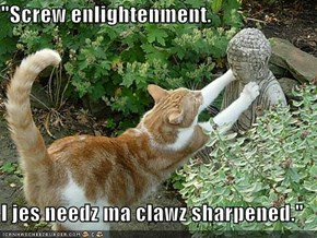 """Screw enlightenment.  I jes needz ma clawz sharpened."""