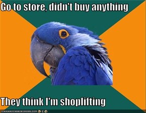Paranoid Parrot: Buy Gum Just in Case