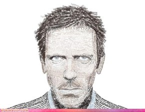 Portrait Of Hugh Laurie Made Of Type