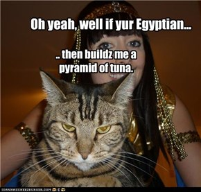 Oh yeah, well if yur Egyptian...