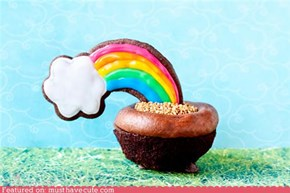 Epicute: End of the Rainbow Cupcake