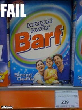 CLASSIC: Detergent Name FAIL