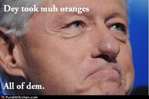Clinton love his fruit