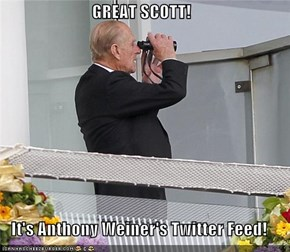 GREAT SCOTT!  It's Anthony Weiner's Twitter Feed!